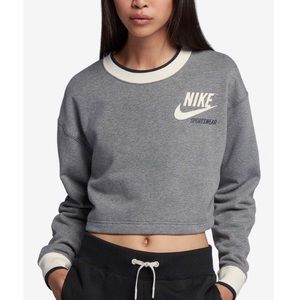 Nike Réversible Fleece Cropped Sweatshirt